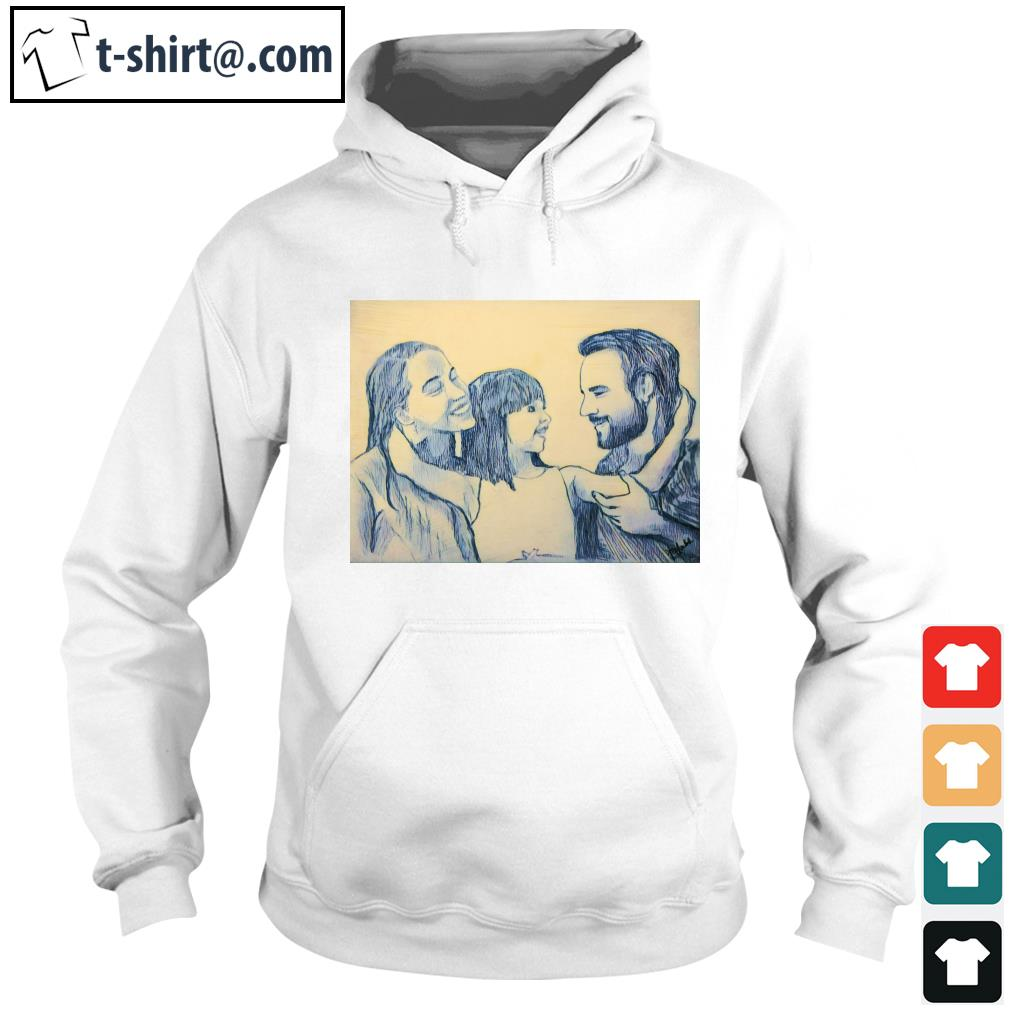 Family Daddy Mommy and Daughter s hoodie