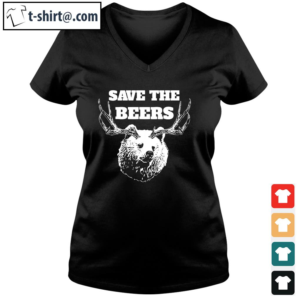 Save the beers s v-neck-t-shirt