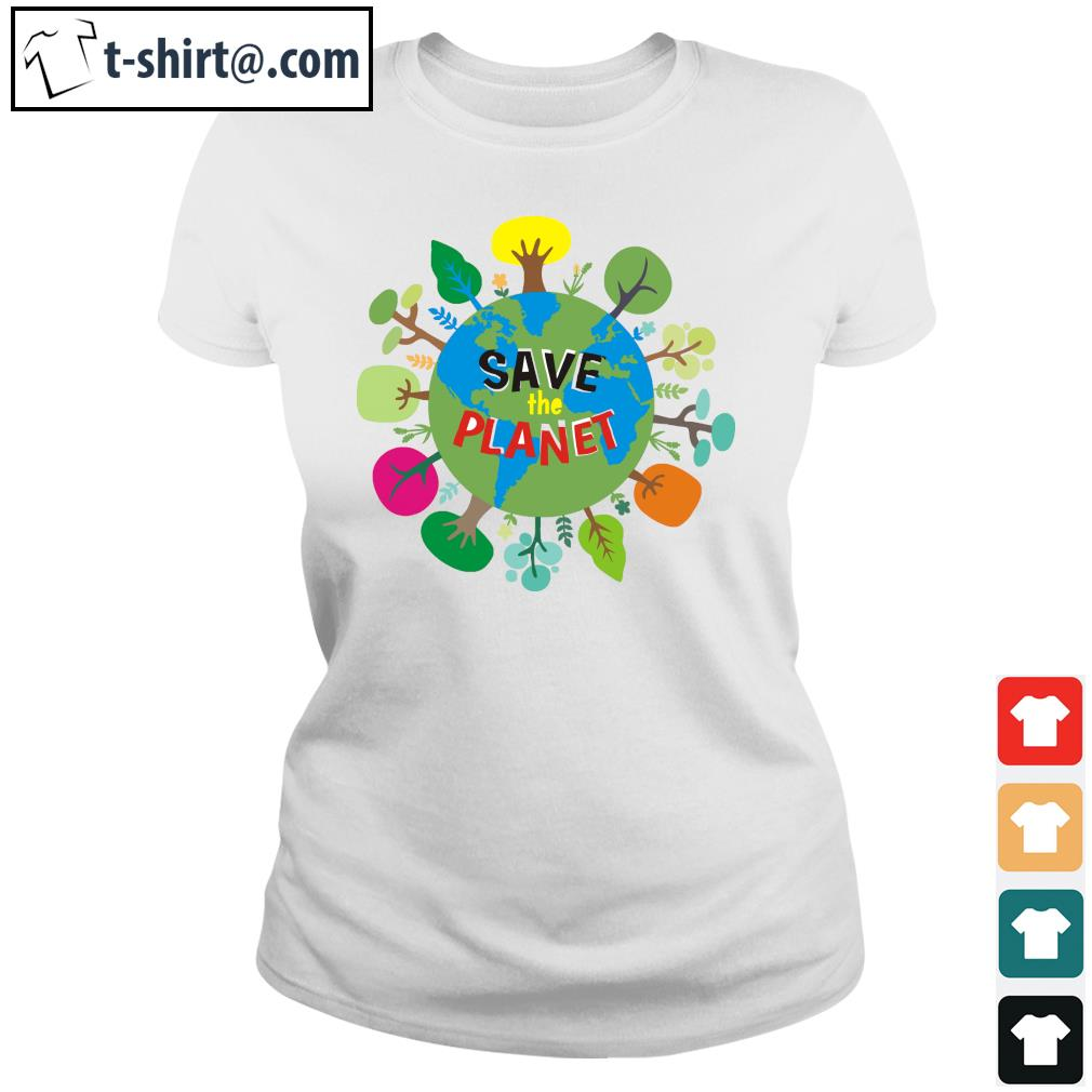 Save the planet s ladies-tee
